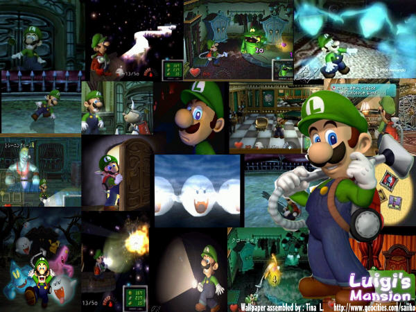 Luigi's Mansion Collage